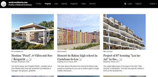 World Architects Magazine Screenshot