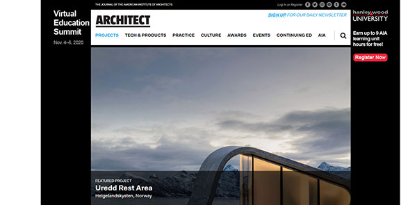Architect Magazine Screenshot