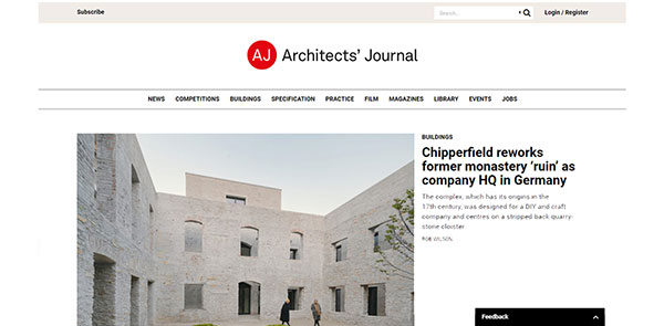 Architects Journal Magazine Screenshot