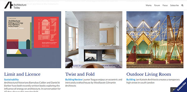 Architecture Today Architecture Magazine
