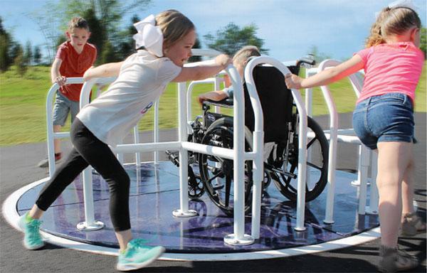 Wheelchair-accessible playground