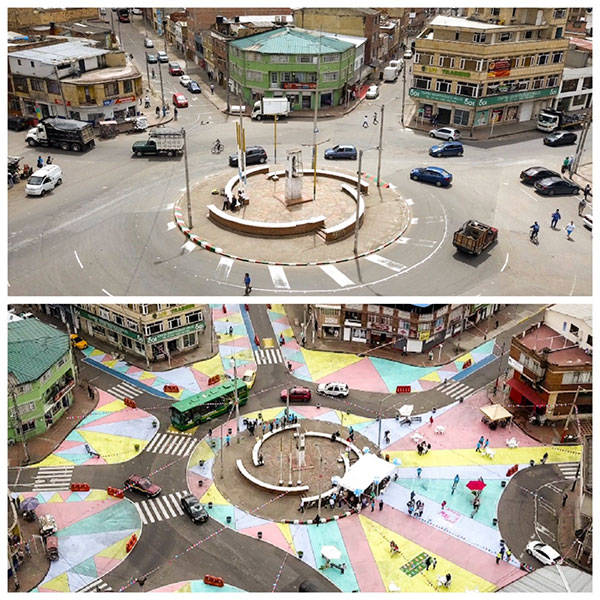 Architecture Trends - Tactical urbanism intervention in Bogotá